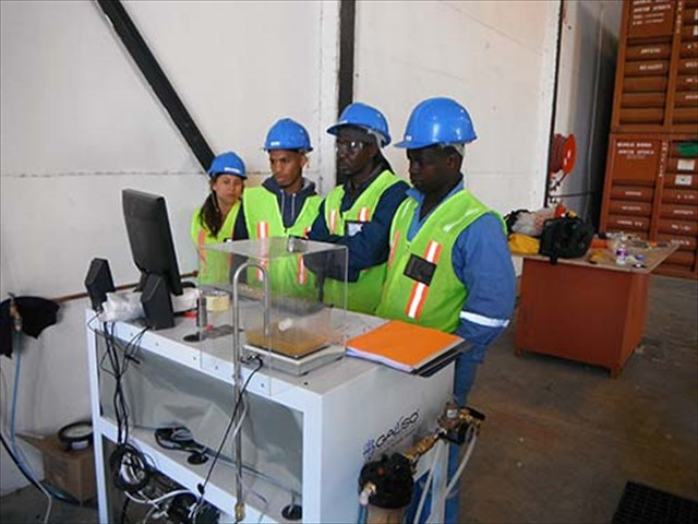 Lanielle, Teslin, Sibanda & Siya at Global Gases, Capetown, South Africa