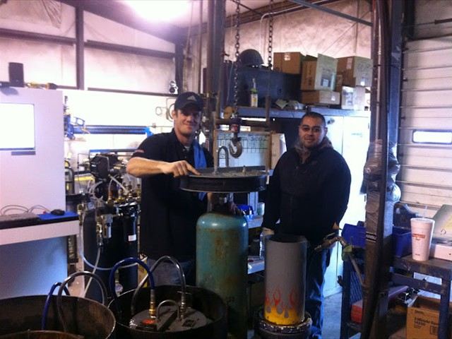 Jeremiah & Marcos testing on their new REC4-214 system, Oxarc, Pasco, WA.