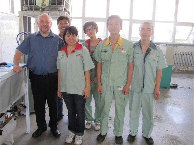Chris Hinchey with Shenyang Cylinder Crew